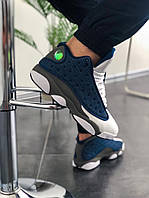 Мужские кроссовки Nike Air Jordan 13 Blue/White/Grey, бело-синие. Размеры (41,43,45), фото 1