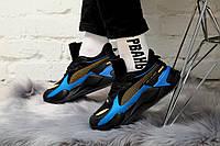 Мужские кроссовки PUMA x HOT WHEELS RS-X Toys 16 Trainers, чёрно-синий., фото 1