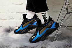 Мужские кроссовки PUMA x HOT WHEELS RS-X Toys 16 Trainers, чёрно-синий.