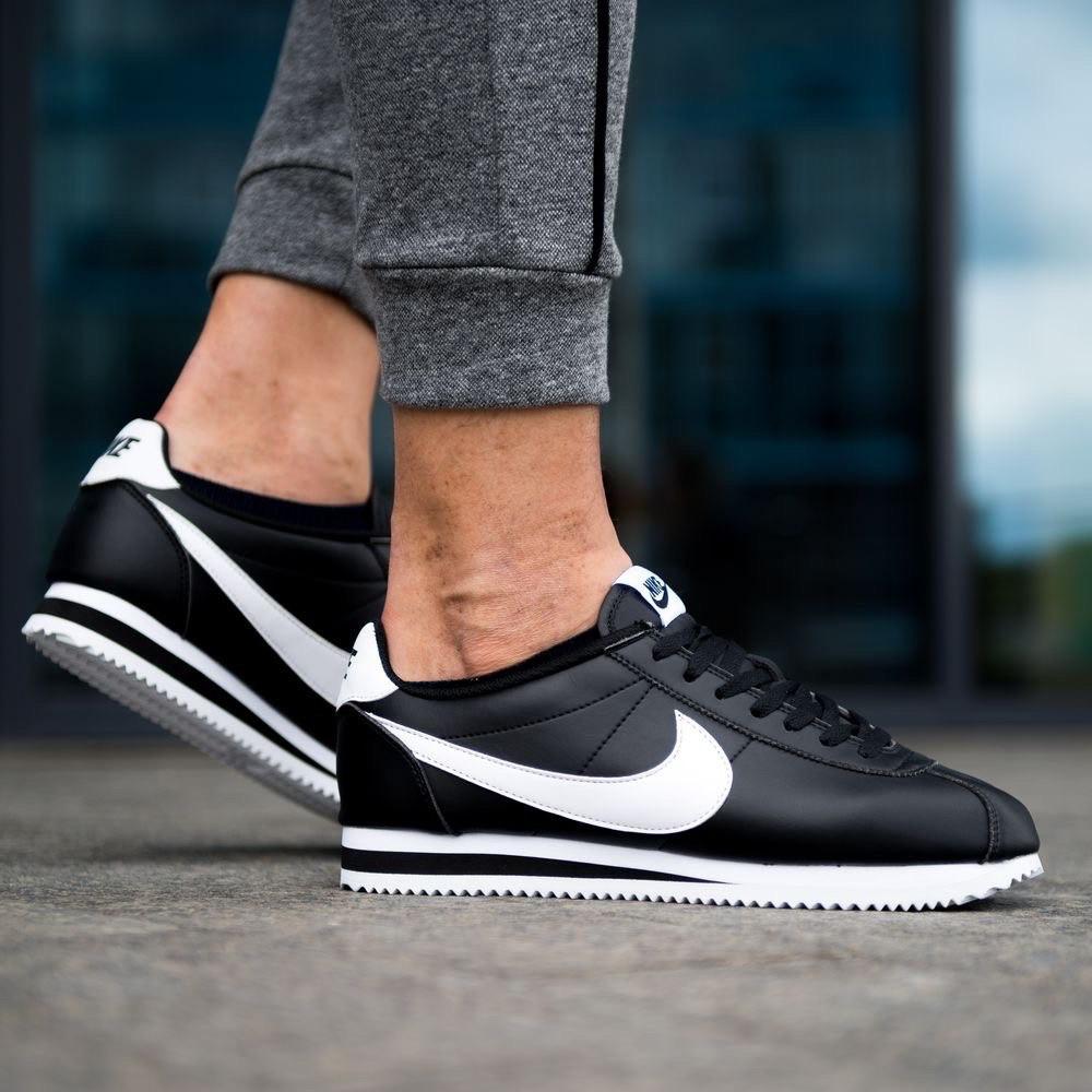 Мужские кроссовки Nike Classic Cortez, чёрные. Размеры (41,42,43,44)