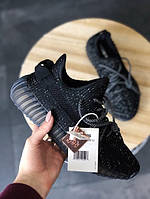 Мужские кроссовки Adidas Yeezy 350 v2 static reflective Black, фото 1
