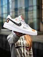 Ероссовки Nike Air Force just do it,  белые., фото 1