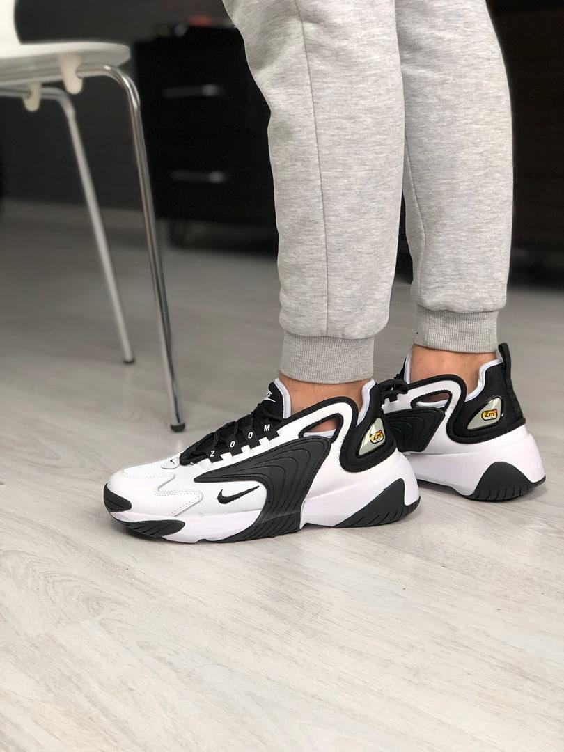 Мужские кроссовки NIKE ZOOM 2K Black/White, чёрно-белые. Размеры (36,37,38,41,42,43,44)
