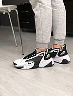 Мужские кроссовки NIKE ZOOM 2K Black/White, чёрно-белые. Размеры (36,37,38,41,42,43,44), фото 1