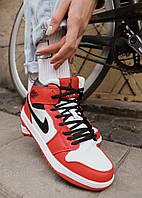 Женские кроссовки Nike Air Jordan 1 Retro зимние (на меху) Размеры (36,38)