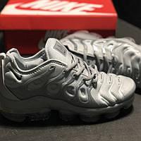 Мужские кроссовки Nike Vapormax Plus Silver, серебристые. Размеры (36,37,38,39,40,41,42,43,44,45), фото 1