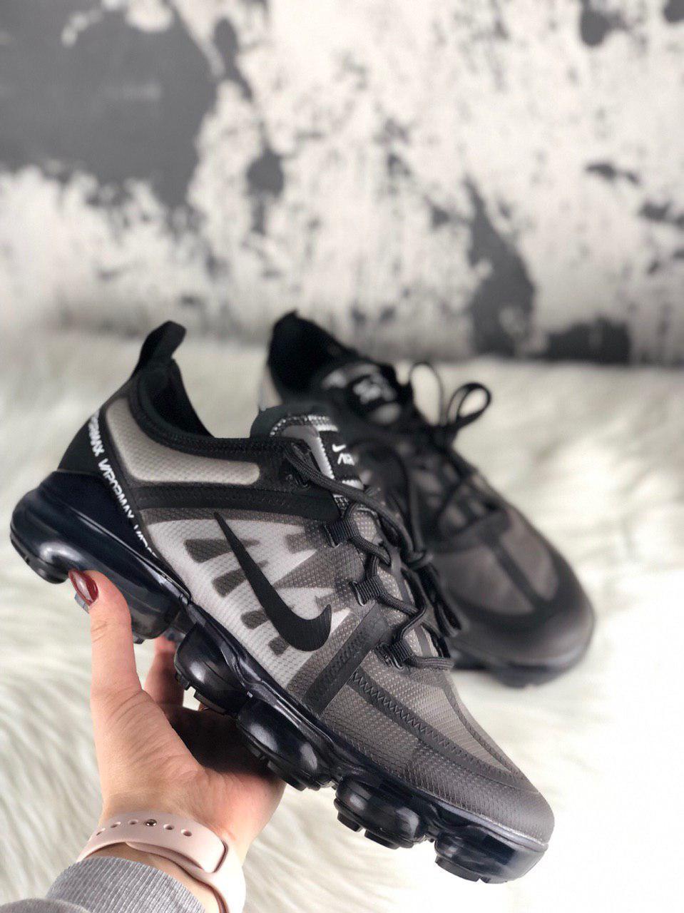 Мужские кроссовки Nike Air Vapormax 2019 Black, чёрные. Размеры (41,43,44,45)