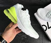 Кроссовки мужские Nike Air Max 270 White\Yellow белые, фото 1