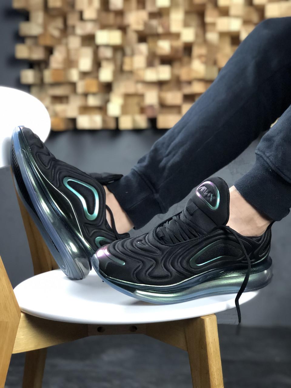 """Мужские кроссовки Nike Air Max 720 """"Throwback Future"""" Black, чёрно-перламутровые. Размеры (41,42,43,44,45)"""