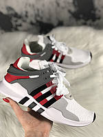 Мужские кроссовки Adidas EQT Support ADV Grey Red Black, белые. Размеры (42,44,45)
