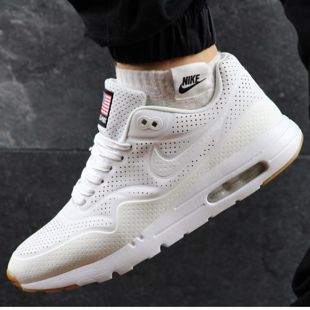 Мужские кроссовки Nike Air Max 90 White белые р. 43 44