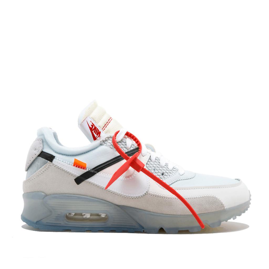 Мужские кроссовки Off-White x Nike Air Max 90, топ