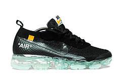 Мужские кроссовки Nike VaporMax Off-White | Найк Аир Вапормакс  черные (Размеры 44 и 45)