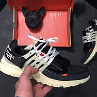 Мужские кроссовки Nike Air Presto Off white, чёрно-белые. Размеры (41,44,45), фото 1