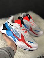 Чоловічі кросівки Puma Rs-x Reinvention Cream Red Blue, різнокольорові.