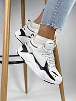 Жіночі кросівки Puma RS-X Reinvention black white, чорно-білі. Розміри (36,37,38)