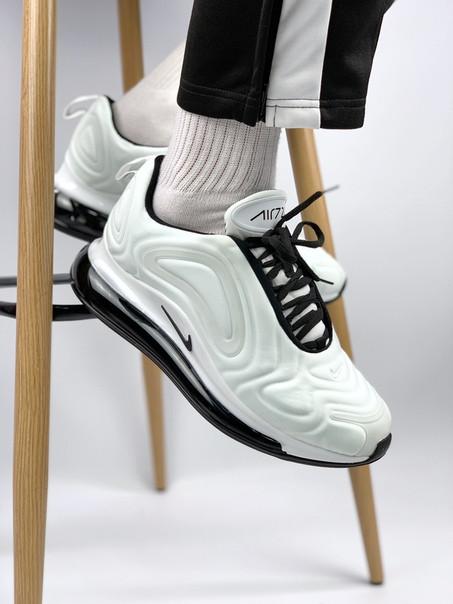 Мужские кроссовки Nike Air Max 720 white, белые. Размеры (41,42,43,44,45)