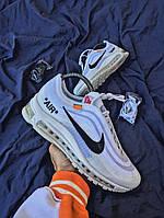 Мужские кроссовки OFF-WHITE x Nike Air Max 97 White, топ