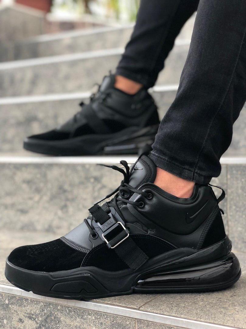 Мужские кроссовки Nike Air Force 270 Black, чёрный. Размеры (40,41,42,43,44,45)