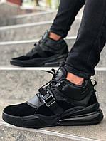 Мужские кроссовки Nike Air Force 270 Black, чёрный. Размеры (40,41,42,43,44,45), фото 1