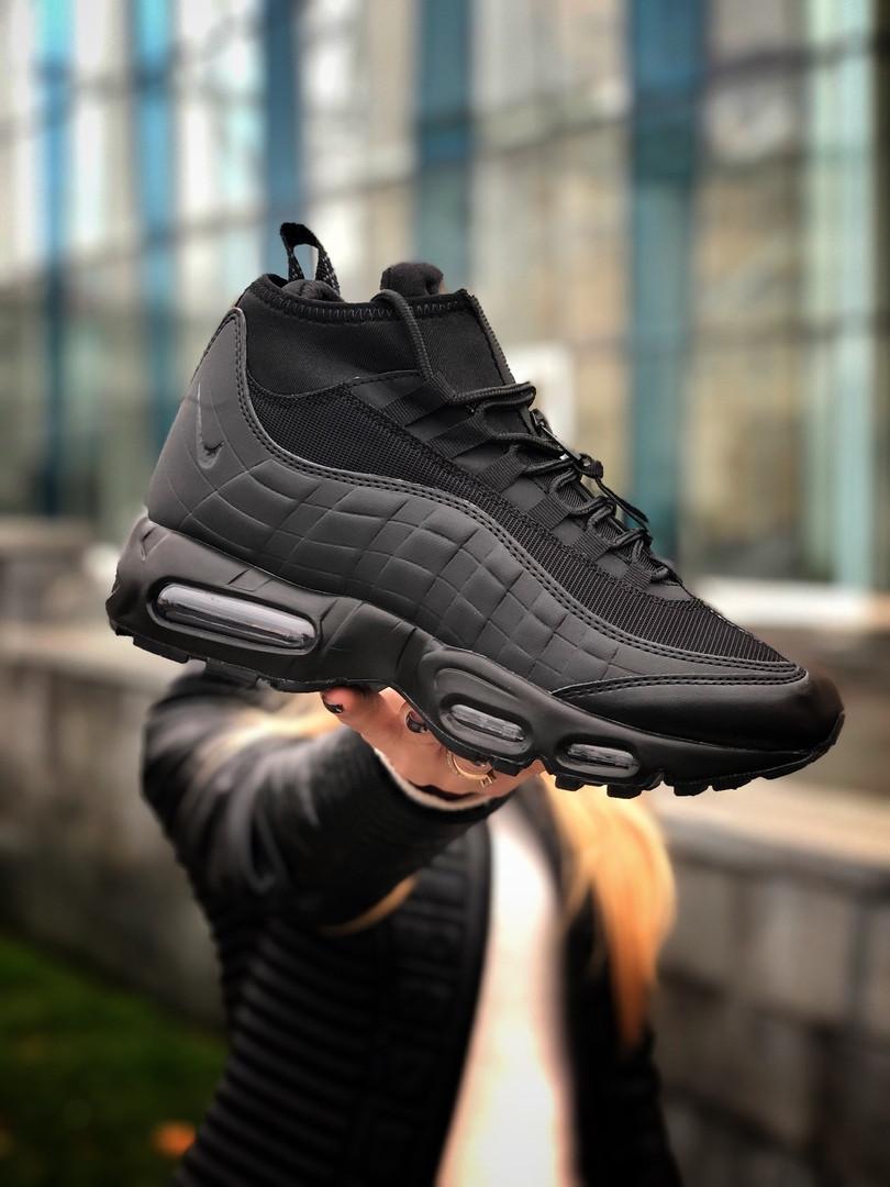 Мужские кроссовки Nike 95 Sneaker, чёрные. Размеры (40,41,42,43,44,45)
