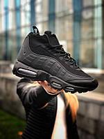 Мужские кроссовки Nike 95 Sneaker, чёрные. Размеры (40,41,42,43,44,45), фото 1