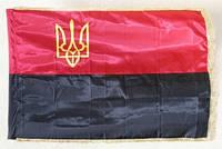 Прапор УПА з Тризубом і бахрамою П-6Тбг, Габардин
