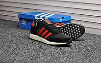 Мужские кроссовки Adidas Iniki Black Red, красно-чёрные. Размеры (42,43,44), фото 1