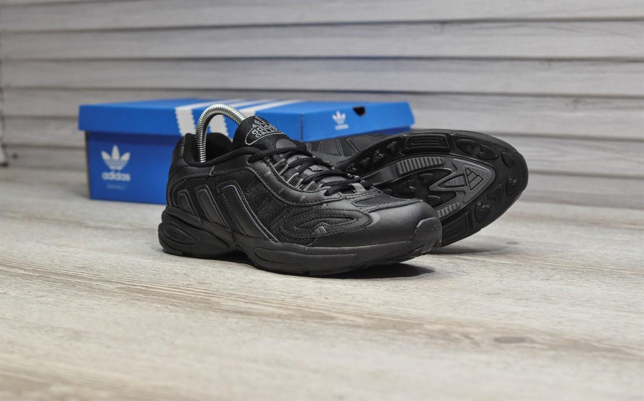 Мужские кроссовки Adidas Galaxy Triple Black, чёрные. Размеры (41,42,43,44)