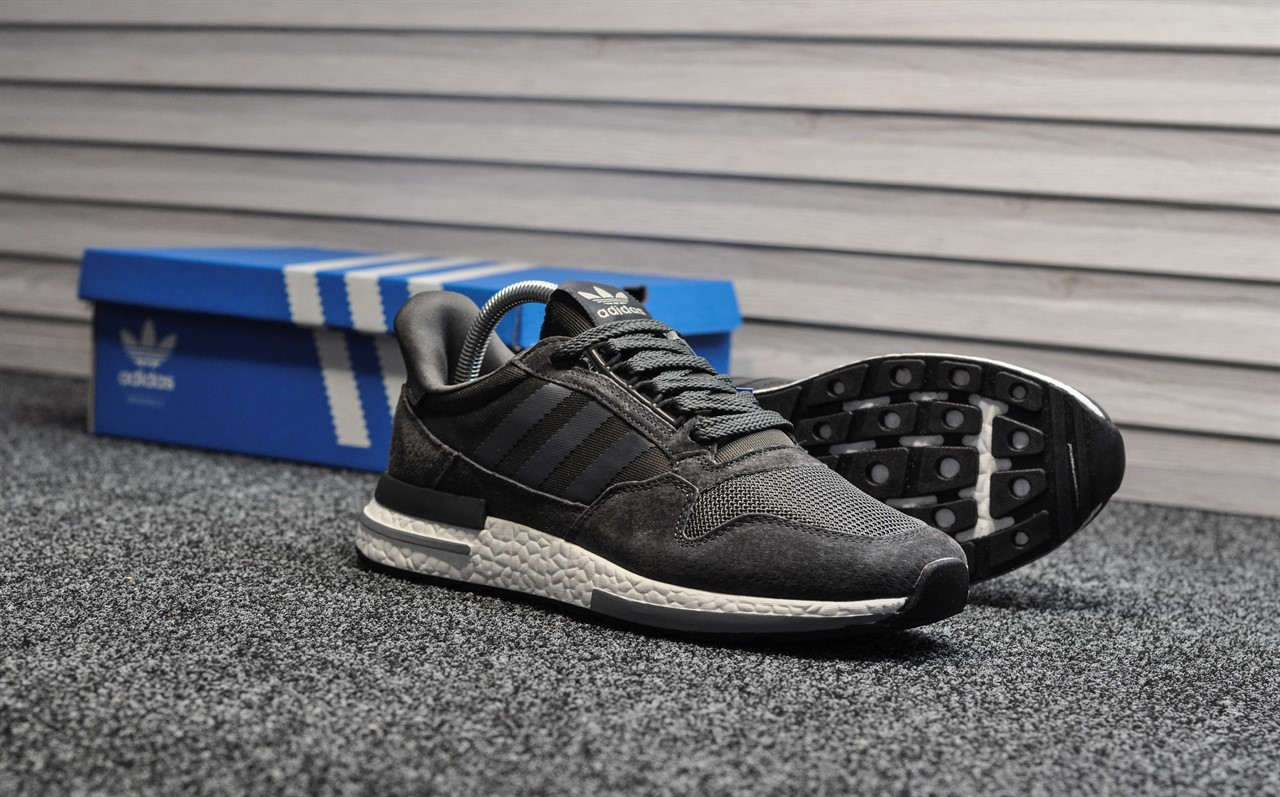 Мужские кроссовки Adidas zx 500 Gray, серые. Размеры (41,43,44,46)