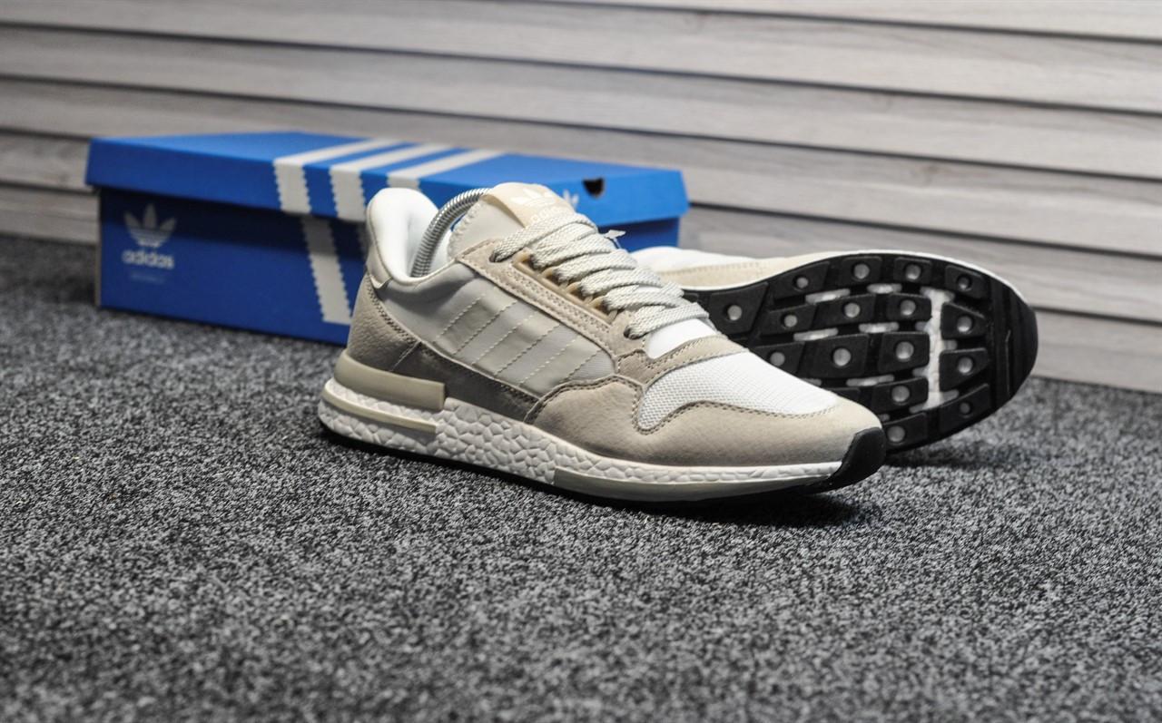 Мужские кроссовки Adidas zx 500 All White, белые. Размеры (43,44,46)