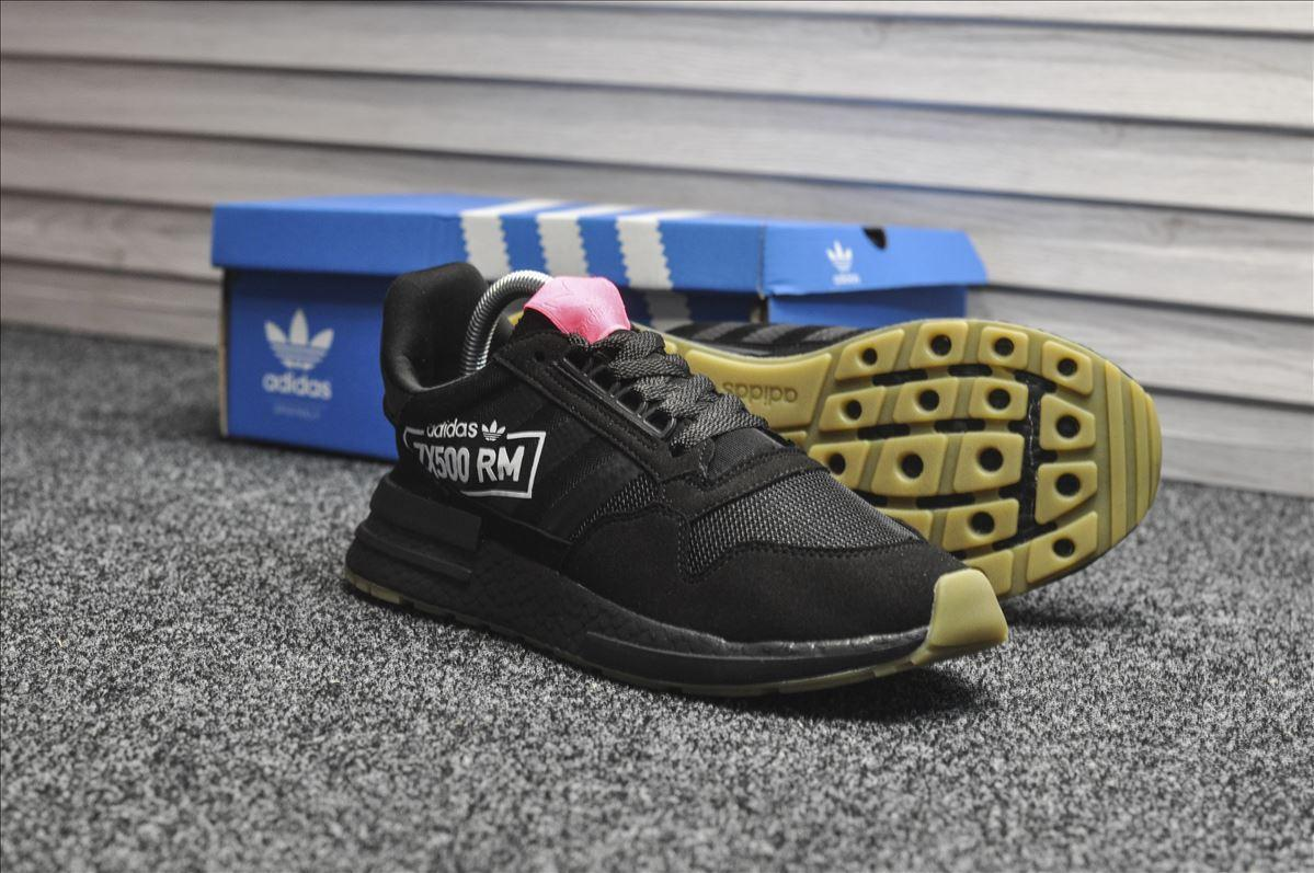 Мужские кроссовки Adidas ZX RM 500 Triple Black, чёрные. Размеры (41,42,45)
