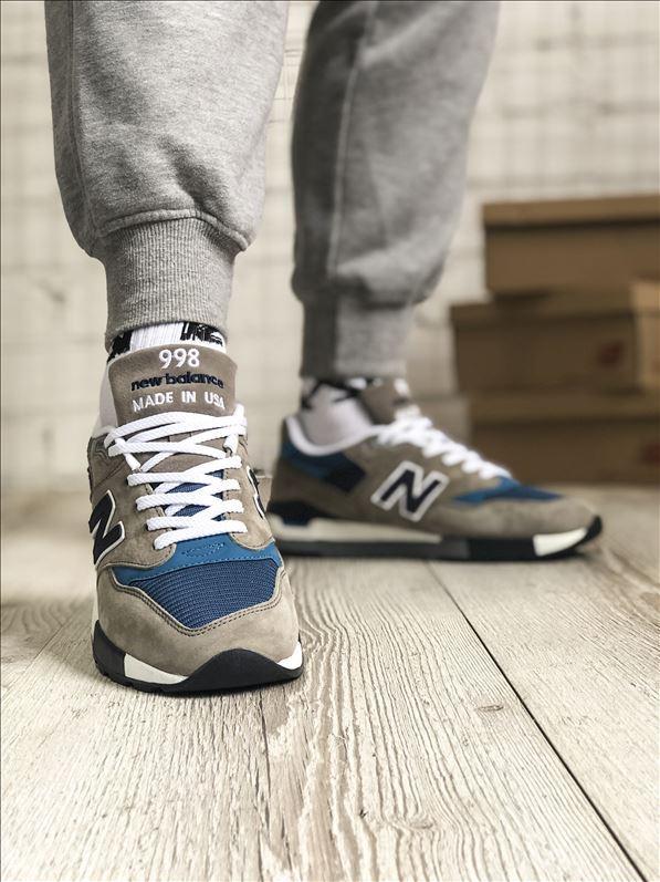 Кроссовки мужские New Balance 998 Brown Blue, коричневые. Размеры (41,42,43,44,45)