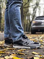 Кросівки чоловічі New Balance 998 Gray Black, чорно-сірі. Розміри (36,37,38,39,41,42,43,44,45), фото 1