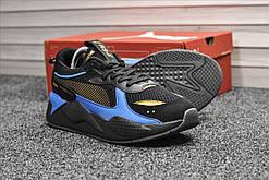 Чоловічі кросівки Puma RS-X Hot Wheels, чорно-сині. Розміри (41,42,43,44)