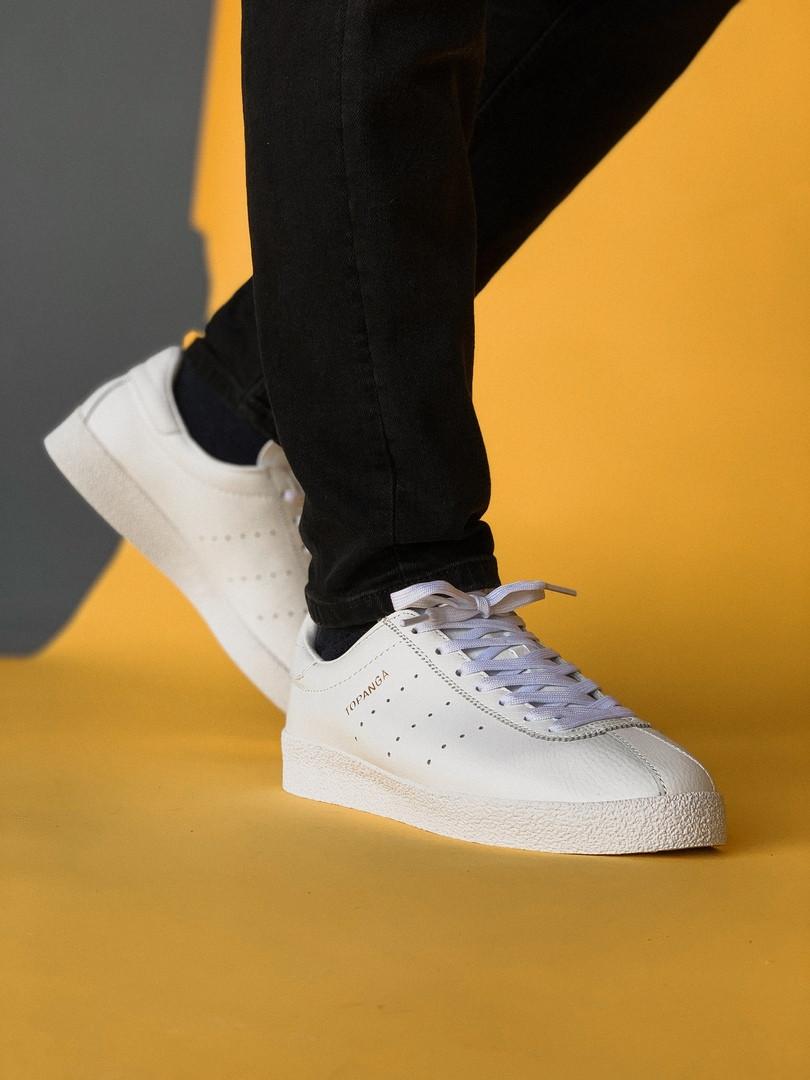 Мужские кроссовки Adidas Topanga White, белые. Размеры (37,38,39,40,41,42,43,44,45)