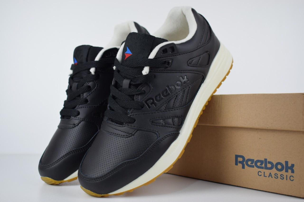 Мужские кроссовки Reebok Hexalite Black, чёрные. Размеры (44,45,46)