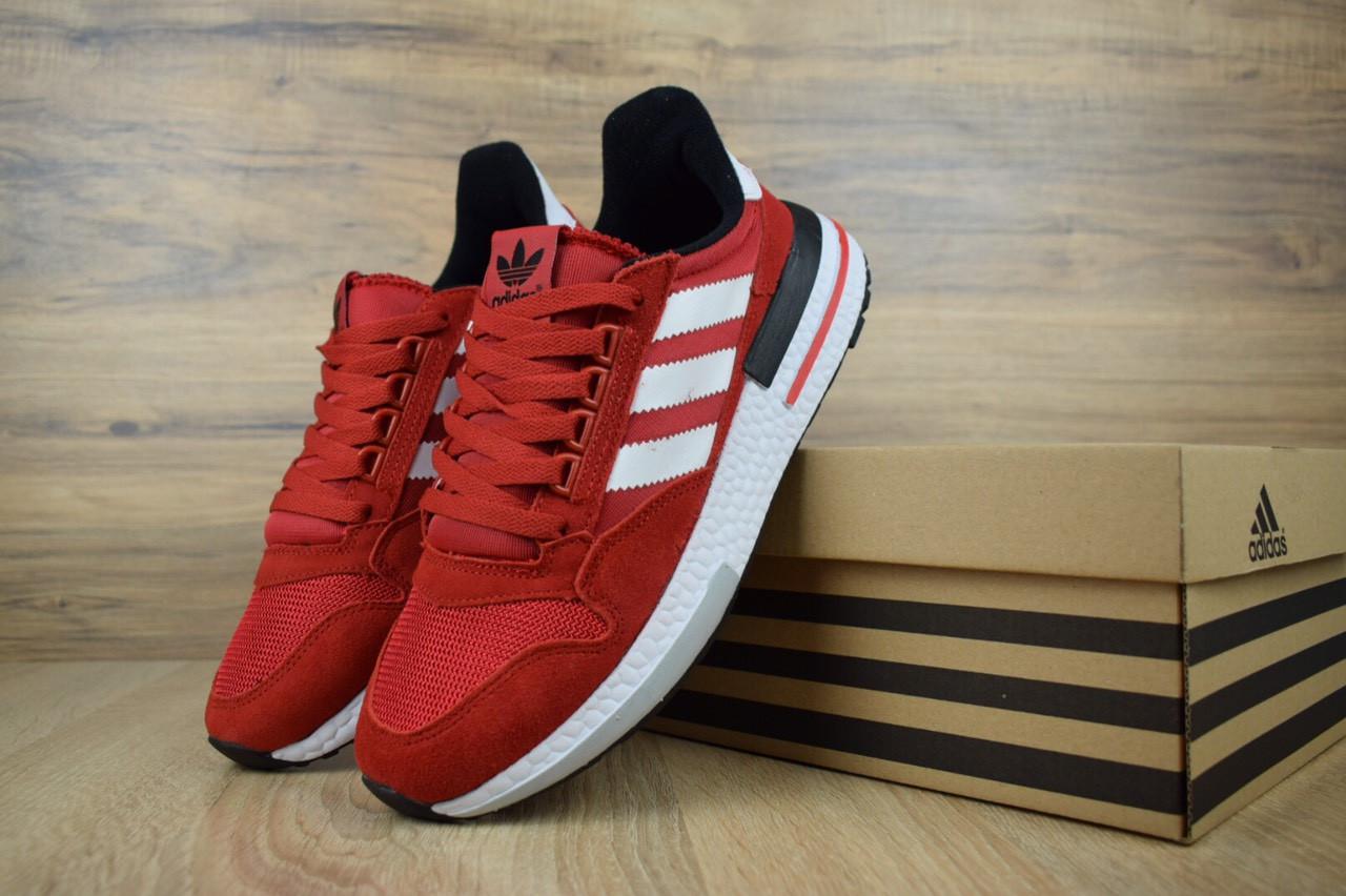 Мужские кроссовки Adidas ZX 500 RM Red, красные. Размеры (42,45,46)