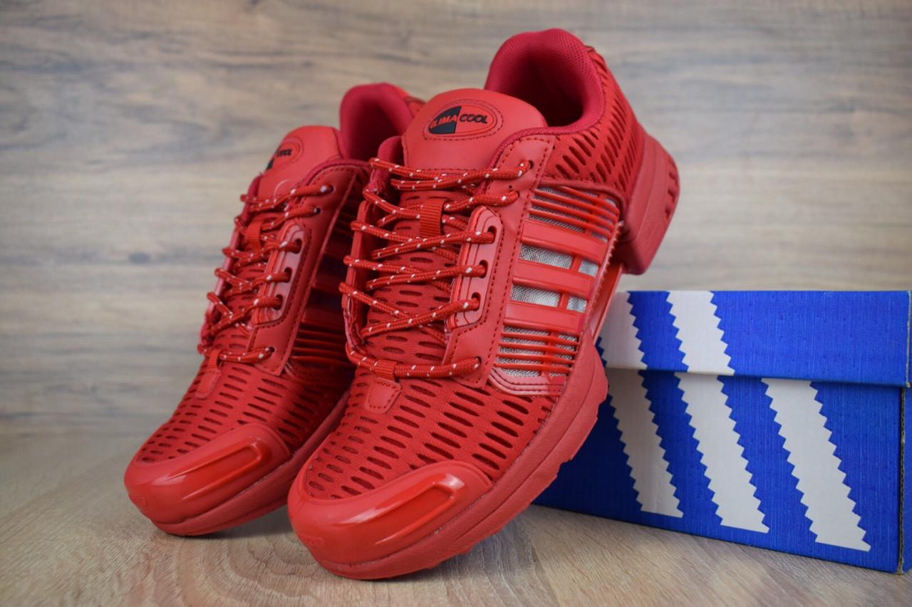 Мужские кроссовки Adidas Climacool Red, красные. Размеры (44,45,46)