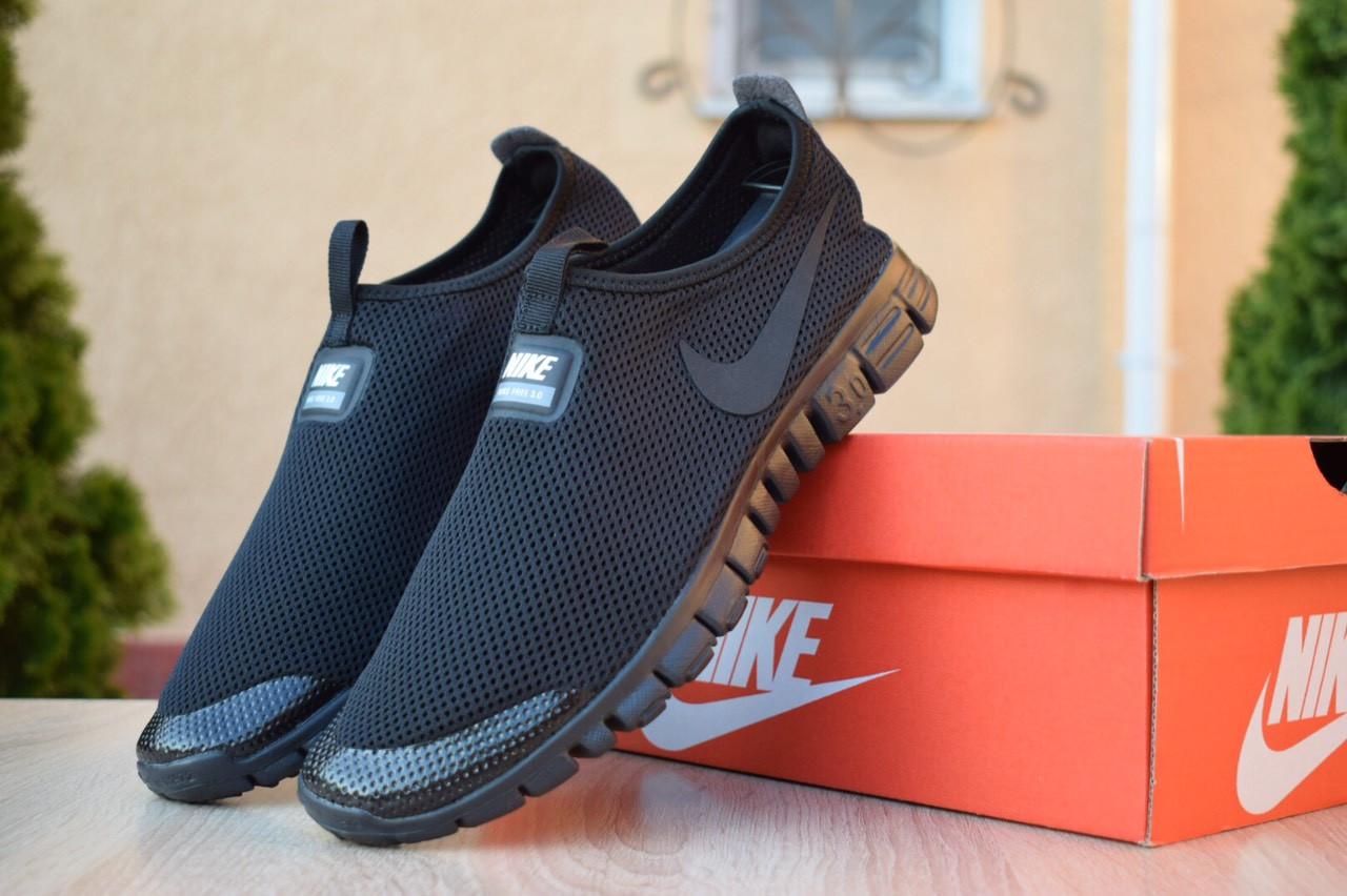 Мужские кроссовки Nike Free Run 3.0, чёрные. Размеры (43,44,45)
