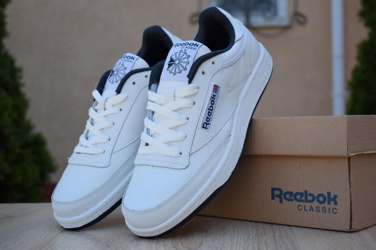 Чоловічі кросівки Reebok Workout White Blue, білі з синім. Розміри (41,42,43,44)