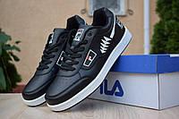 Кроссовки мужские Fila Turismo Black, чёрные. Размеры (41,42,43,44,45,46), фото 1