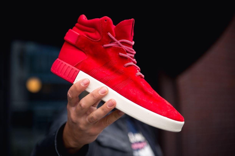 Мужские кроссовки Adidas Tubular Invader Red/Vintage, красные. Размеры (41,44,45)