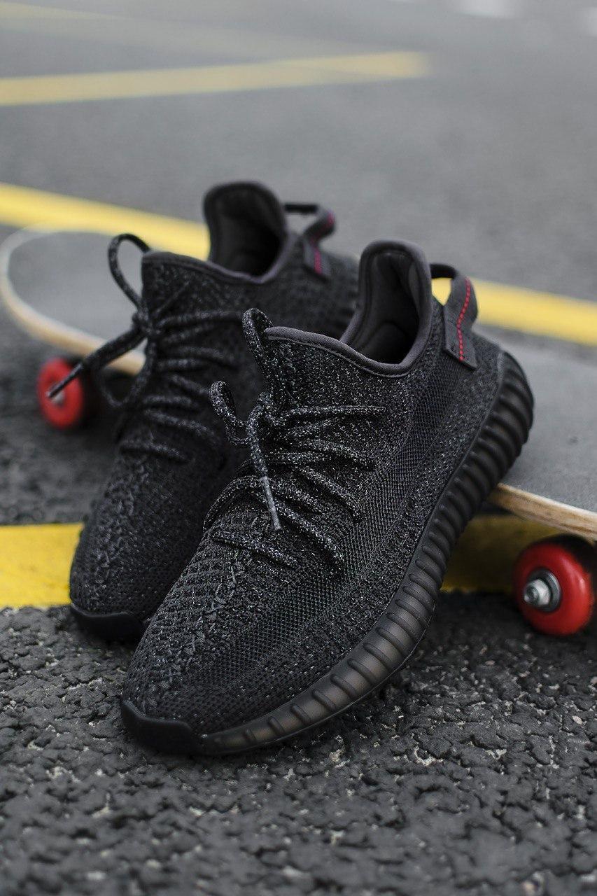 Кроссовки мужские Adidas Yeezy Boost 350 V2 Black Reflective