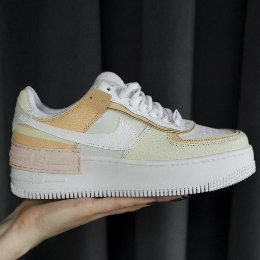 Кроссовки женские Nike Air Force Shadow Tonal Cream (найк аир форс шедоу тонал крем)
