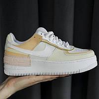 Кросівки жіночі Nike Air Force Shadow Tonal Cream (найк аір форс шедоу тонал крем), фото 1