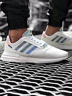 Кроссовки мужские Adidas ZX500 RM White белые, фото 1