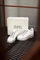Кроссовки кеды женские Alexander McQueen White/Silver 2.0 (александер макквин), фото 1