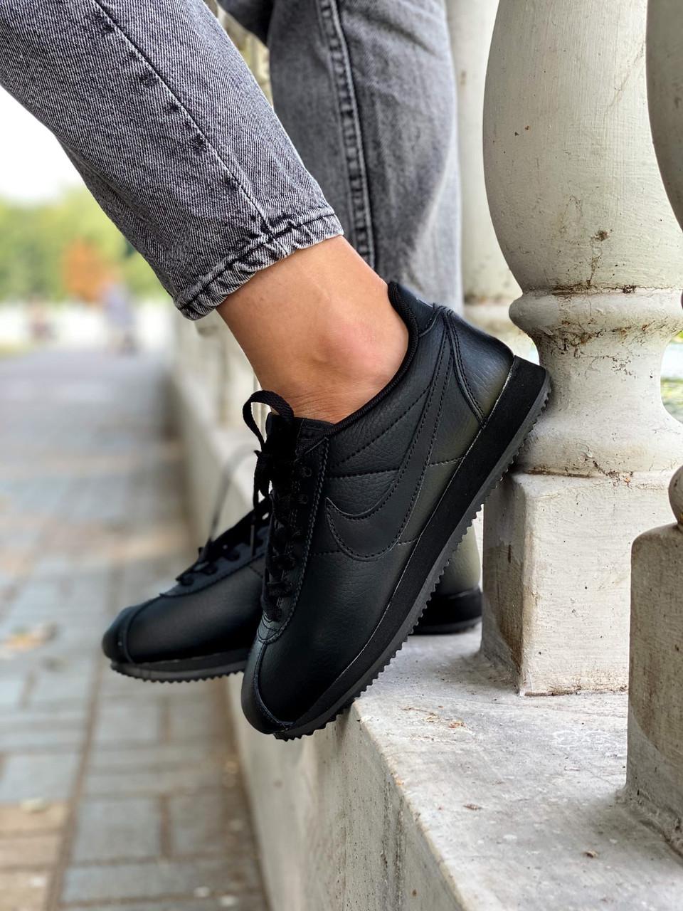 Кроссовки женские Nike Cortez Black черные