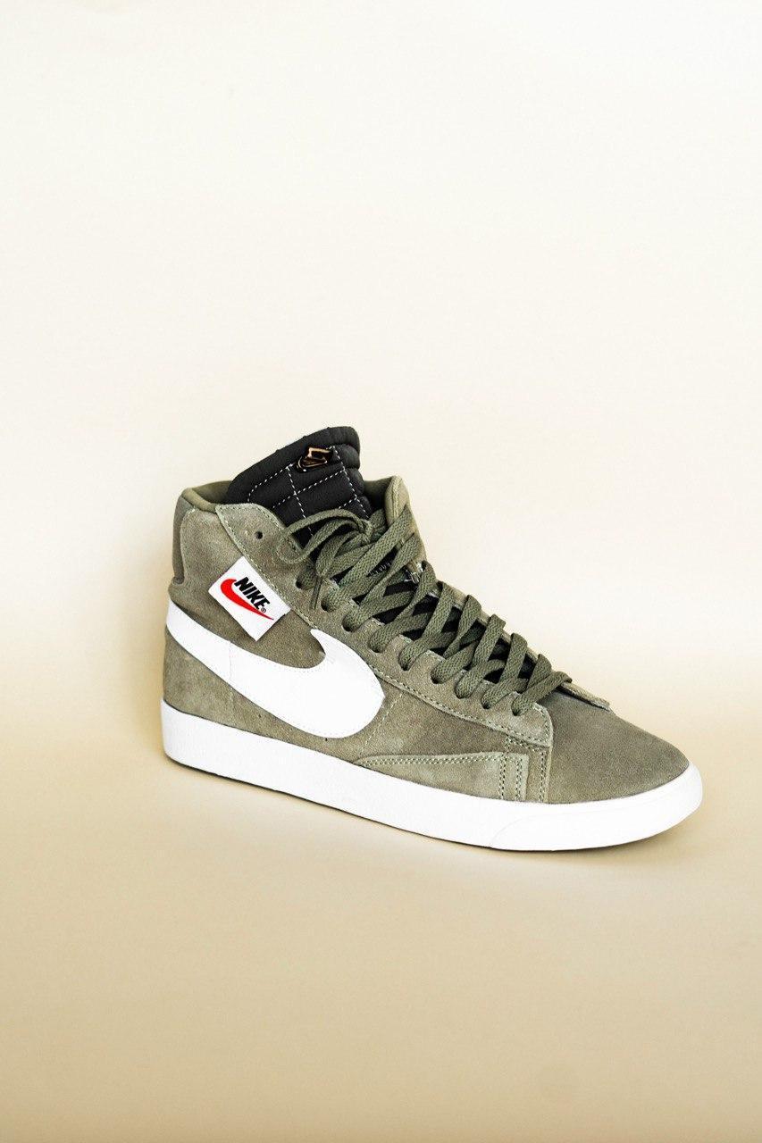 Кроссовки мужские Nike Blazzer Olive (найк блейзер)